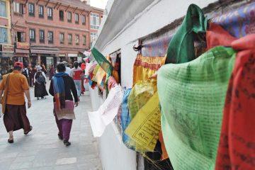 Boudhanath flags