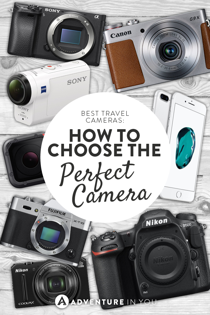 Travel Camera | Wondering how to choose the perfect travel camera? Here are out top recommendations for the best dslr, mirrorless, point and shoot, and action cameras #travelcameras #travelgear