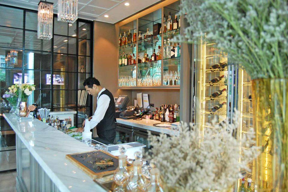 oriental bar room