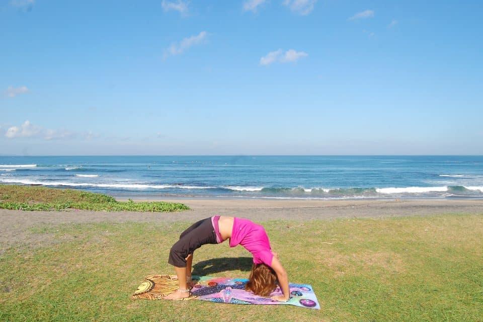 beach yoga, Canggu, Bali