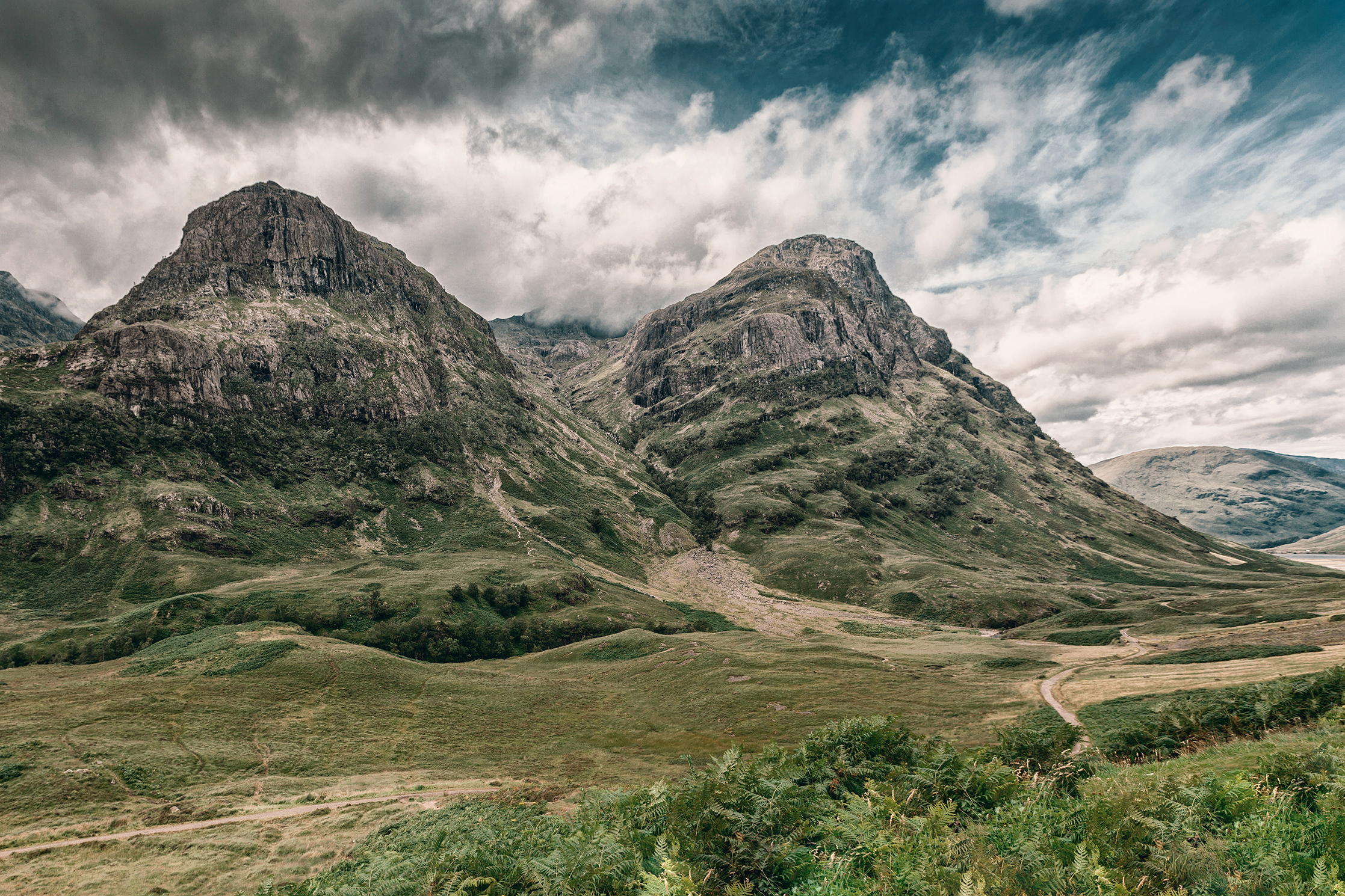 Two mountain peaks in the Scottish Highlands