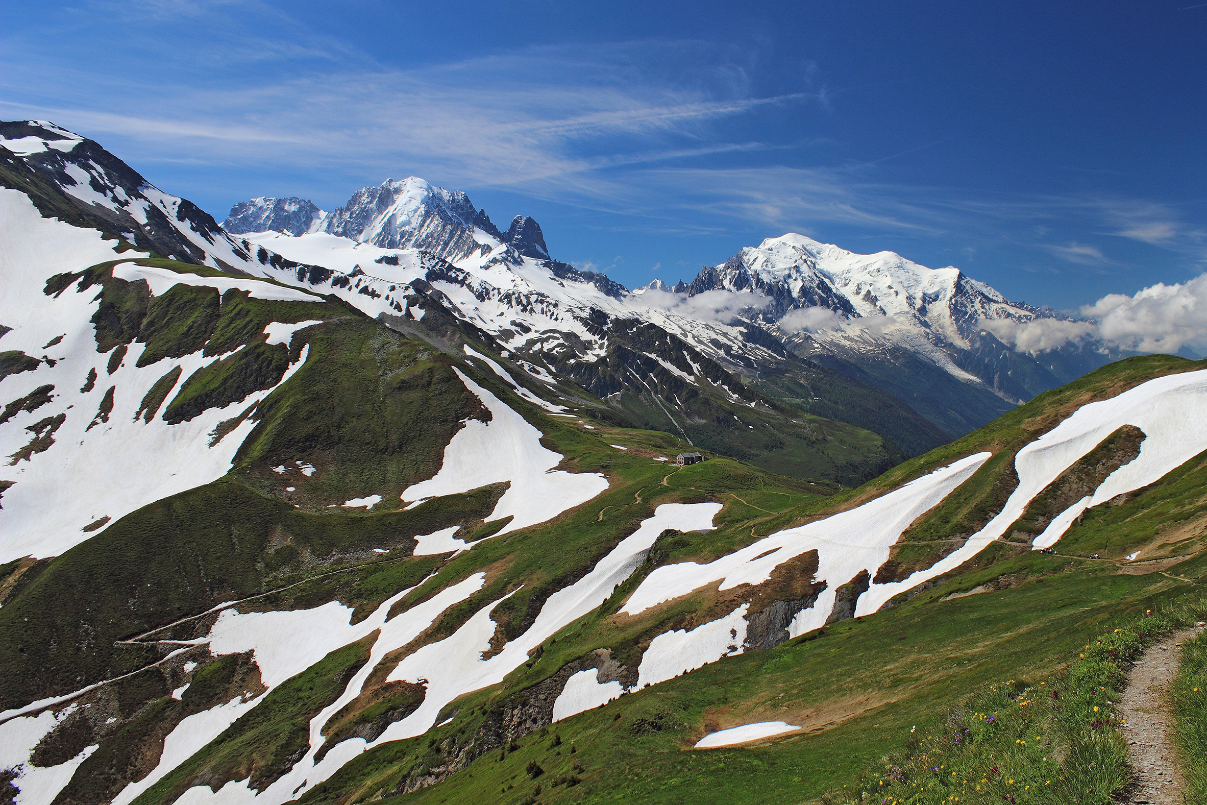 Landscape shot of Mont Blanc, France