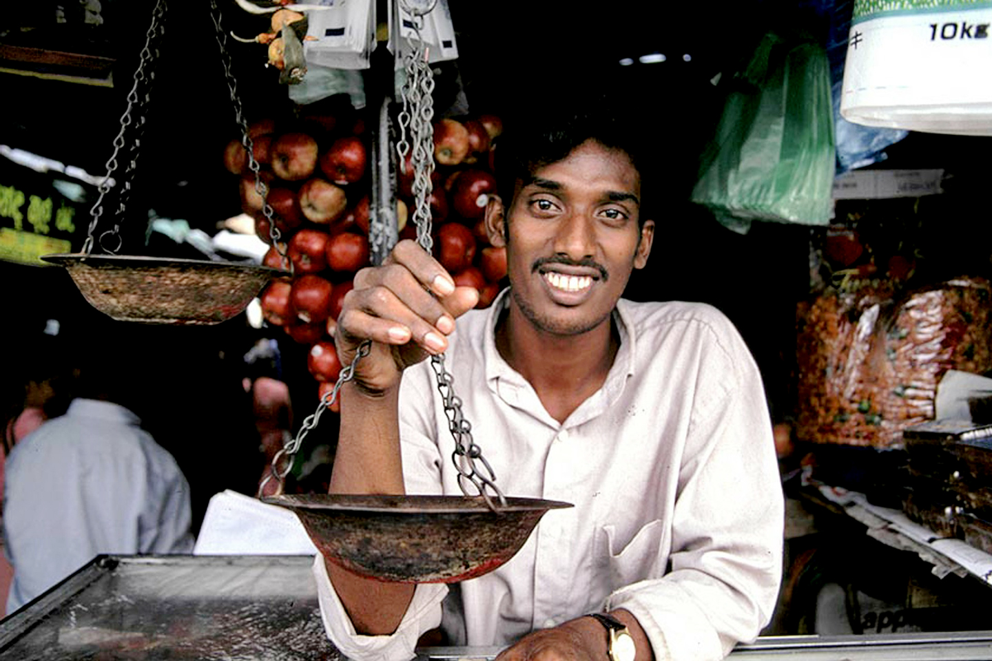 Shopkeeper smiling, Sri Lanka