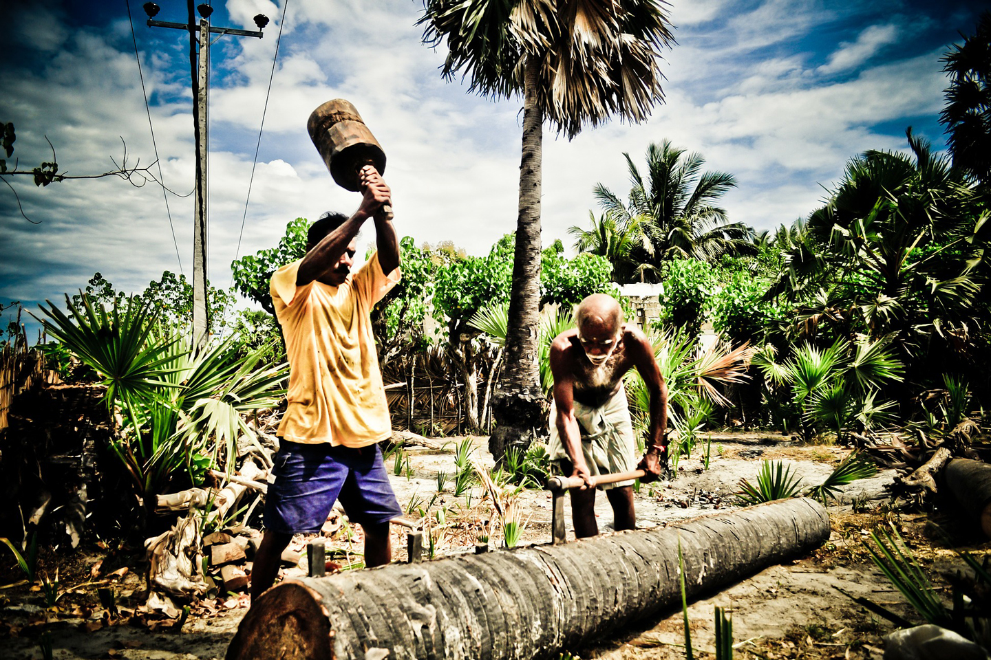 Locals at work in Northern Sri Lanka