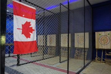 axe throwing canadian flag bangkok