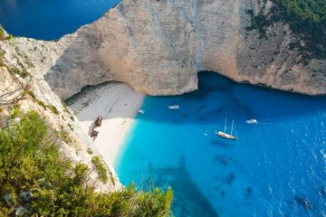 Greece shipwreck island beach