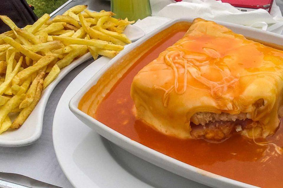 Francesinha sandwhich portugal