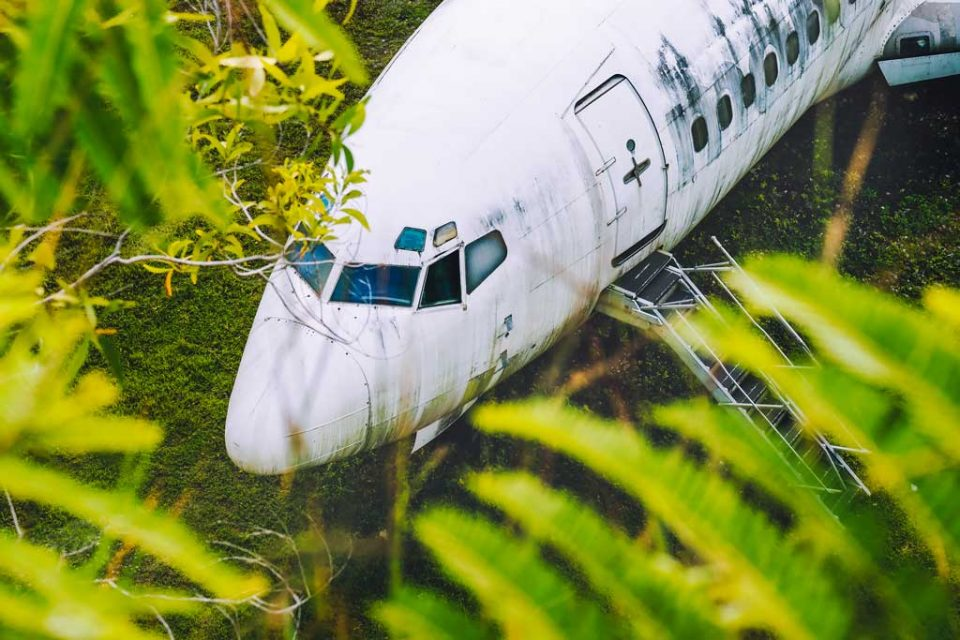 abandoned planes bali