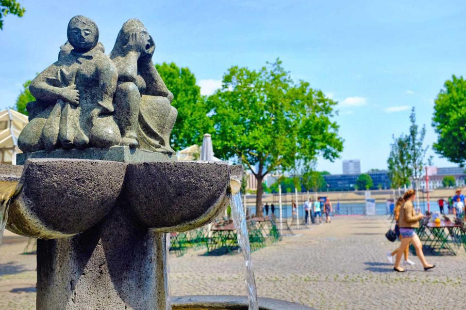 cologne Fountain and Rhein view
