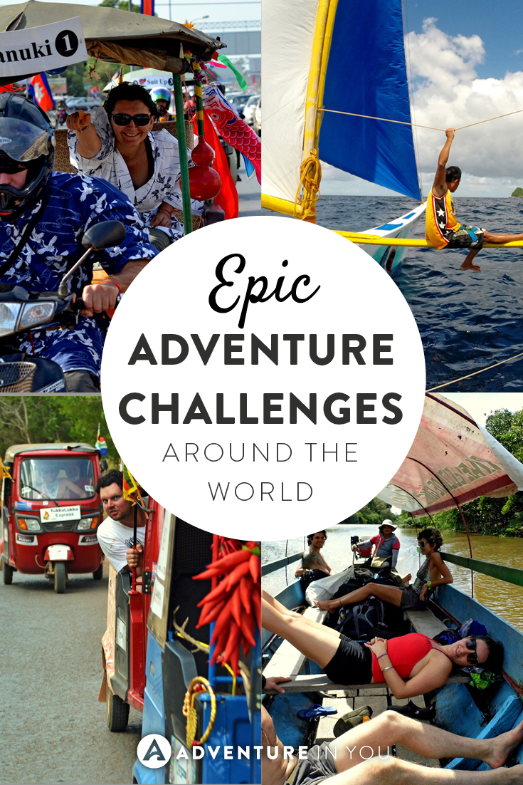 Calling all adventure lovers! Check out these epic adventure challenges all around the world!
