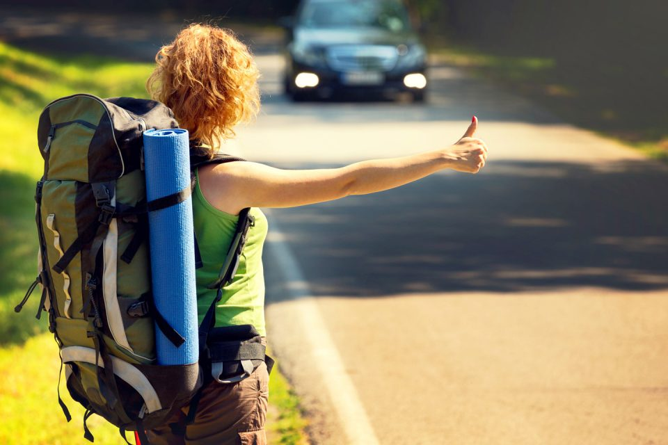 hitchhikersguide female hitchhiker