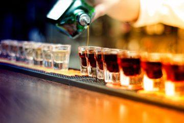 shots poured alcohol