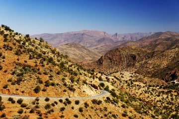 Anti Atlas mountains in Morocco