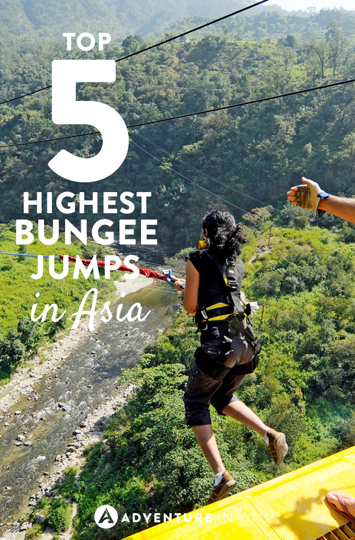 Calling all adrenaline junkies! Here are the 5 highest bungee jumps in Asia. Go get them!