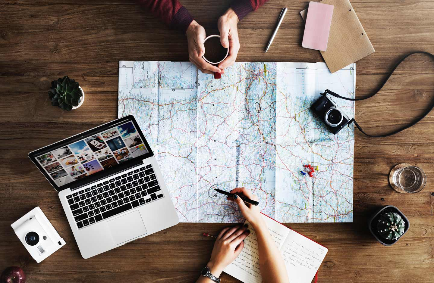 travel blog and map