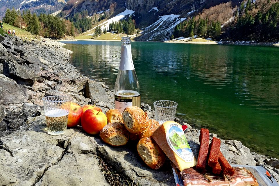 A picnic by the lake
