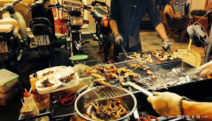 street bbq vietnam food