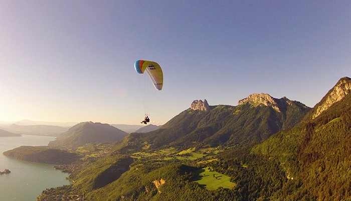 Paragliding in Annecy, France people of the world