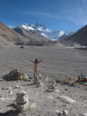 Naked infront of MT.Everest