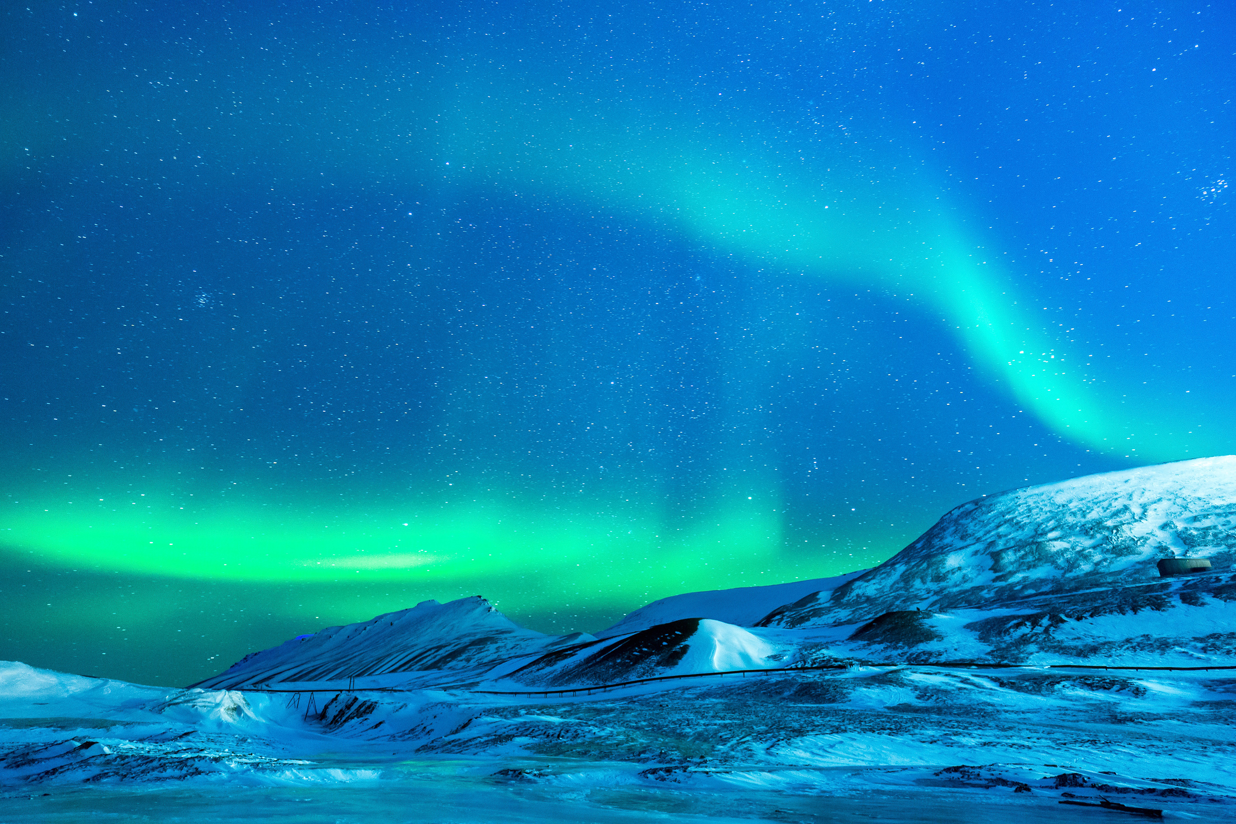 glacier northern lights