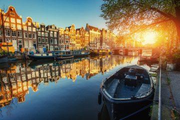 amterdam-canals-sunset