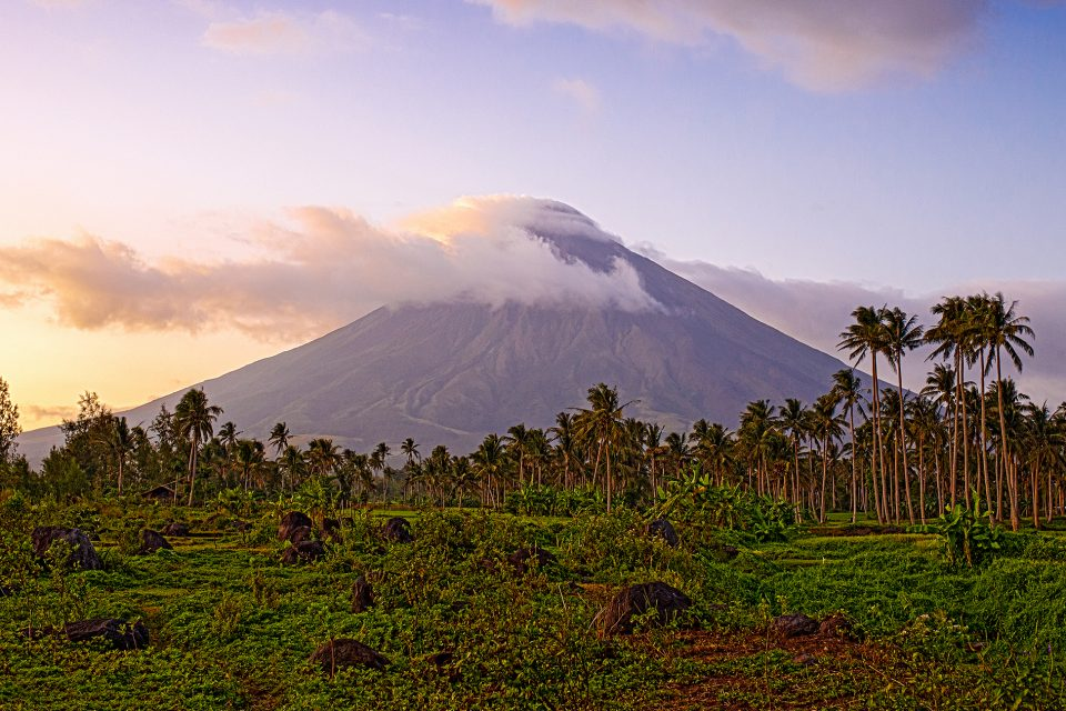 Mayon Volcano peak