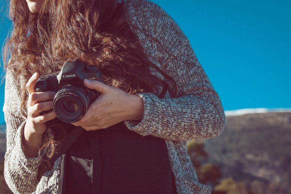 A woman and her camera
