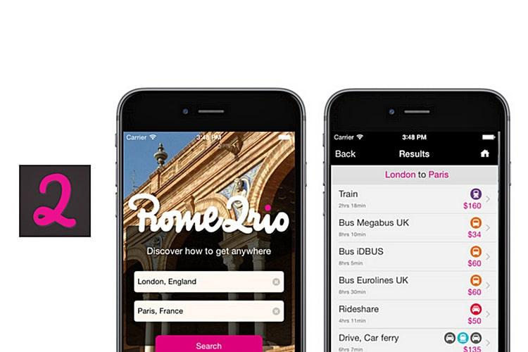 The rome2rio app