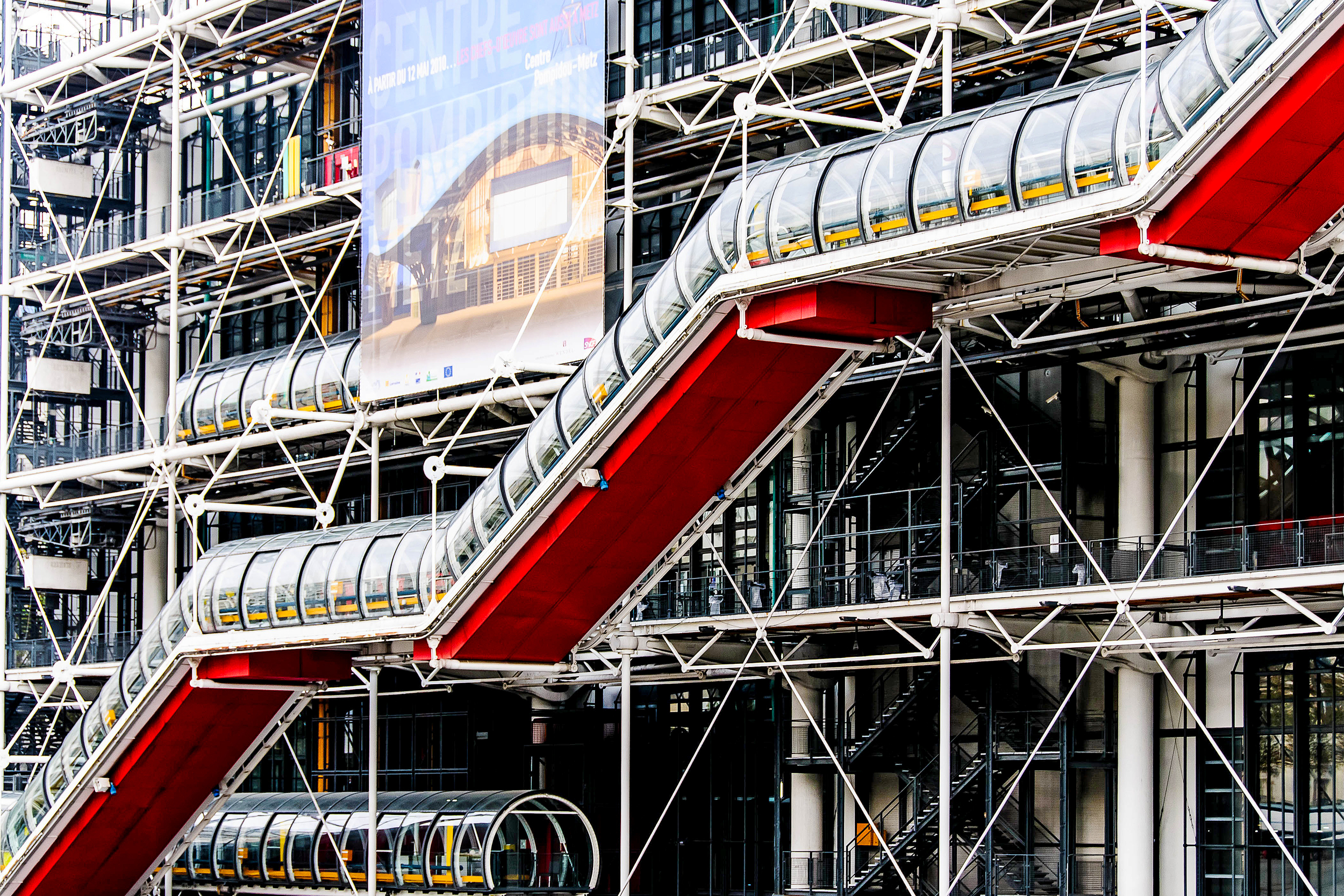 Close up of Centre Pompidou