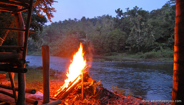 campsite fire nabaoy mainland adventure