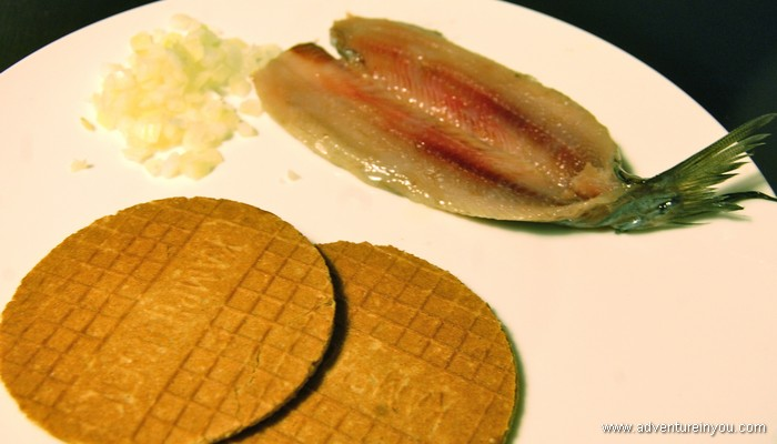 herring and stroopwafel