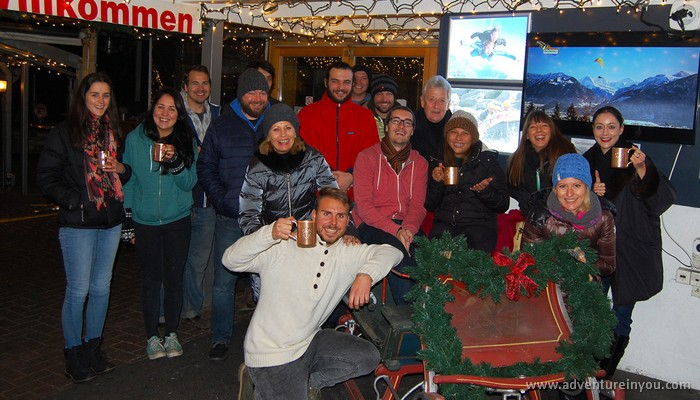 balmers group shot hostel interlaken