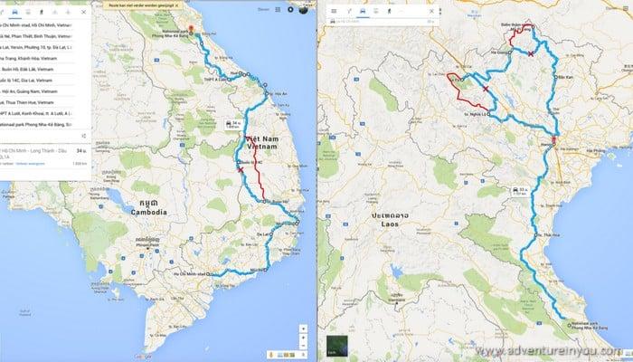 vietnam motorbike route
