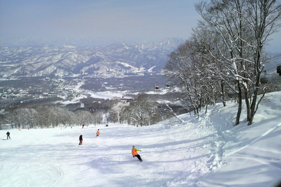 snowboarding japan snow