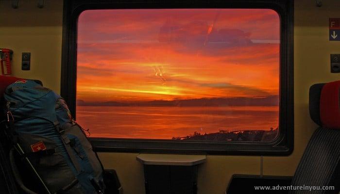 sunset switzerland