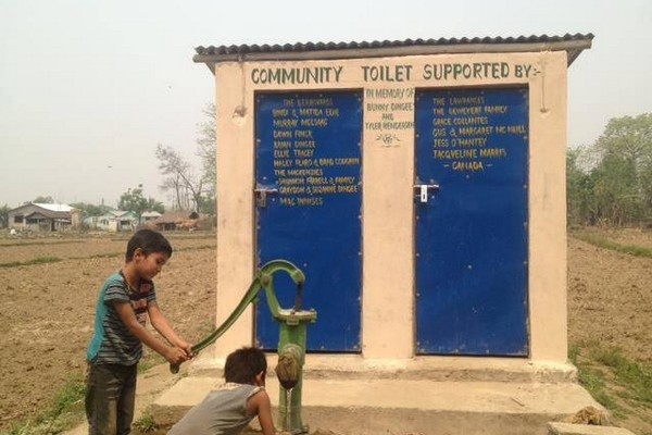 toilets donated in gawai nepal