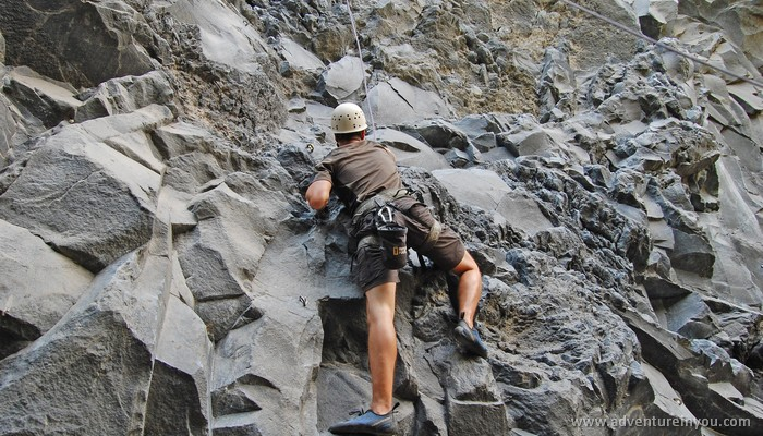 rock climbing in banos ecuador