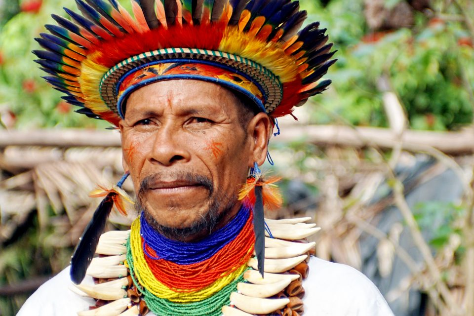 Man in tribal dress