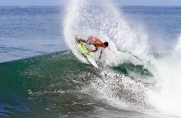 A man surfing in Keramas