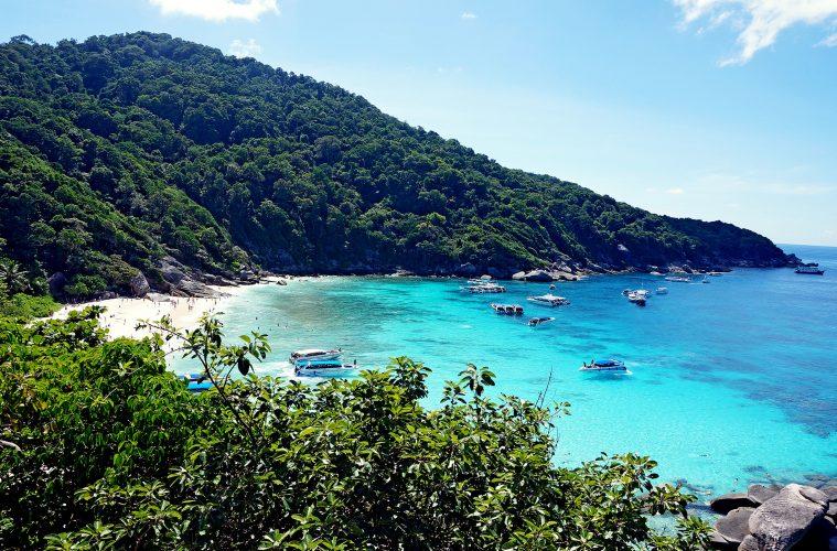 Mountain view of a Thai island