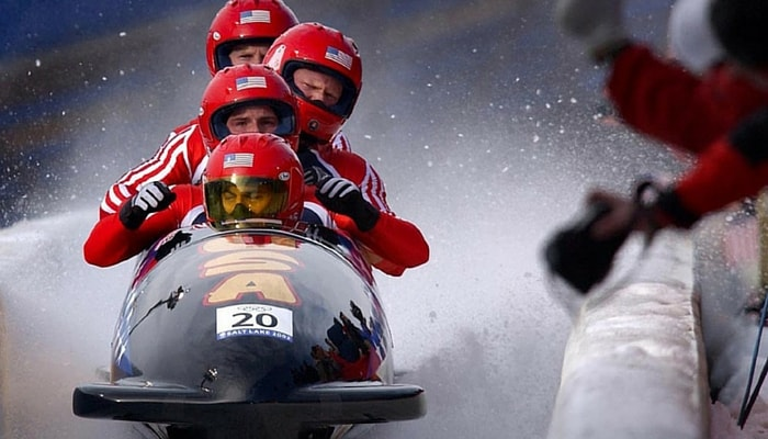 Bob sleighing in USA
