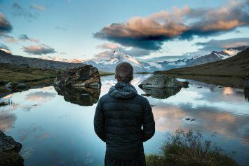 man mountain reflection