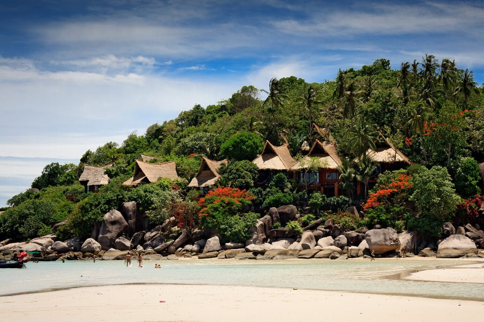 Beach huts in Koh Tao