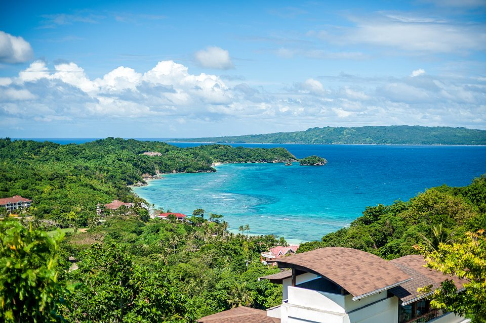 A zipline across the sea in Boracay