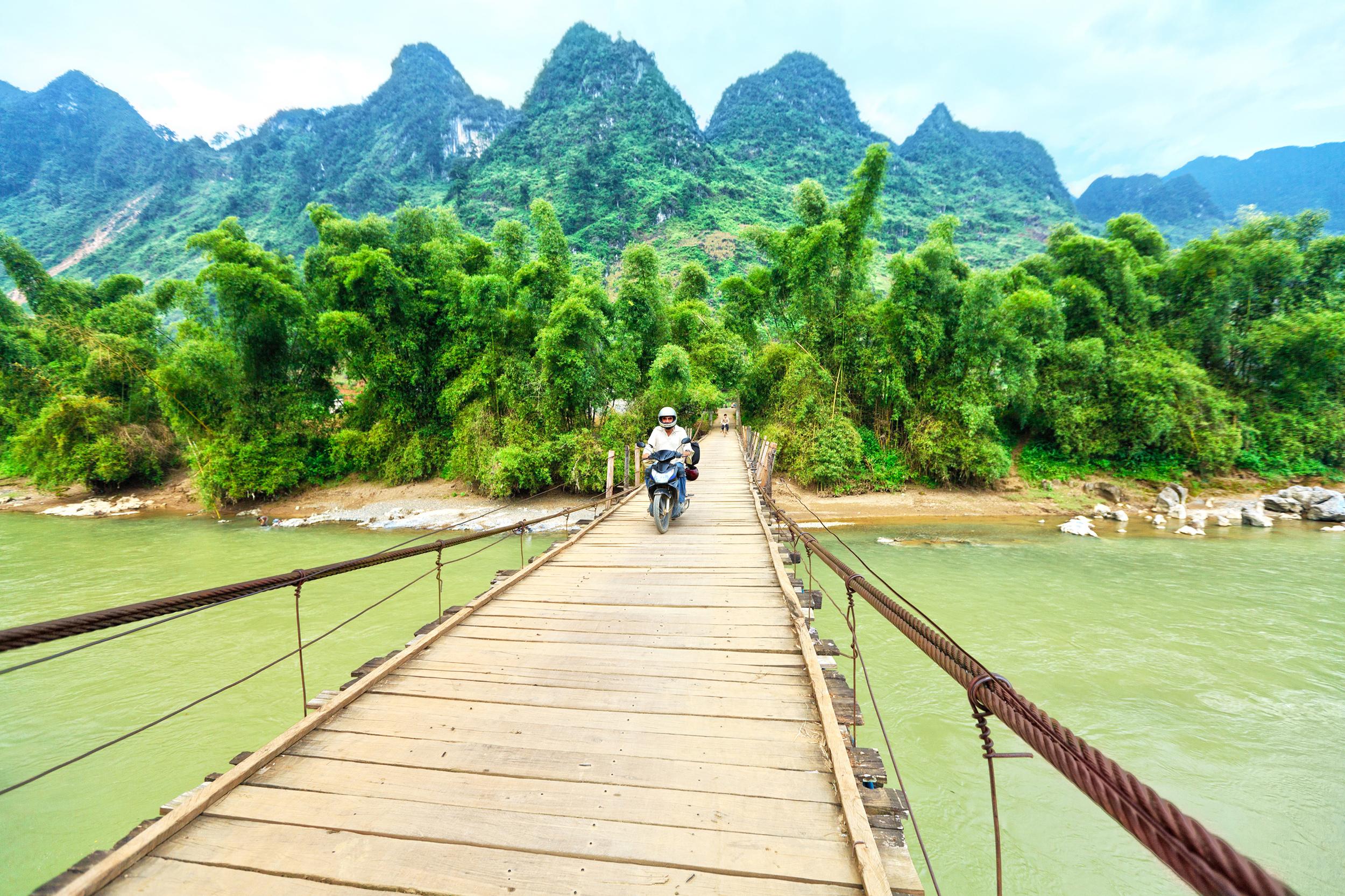 riding motorbikes in asia