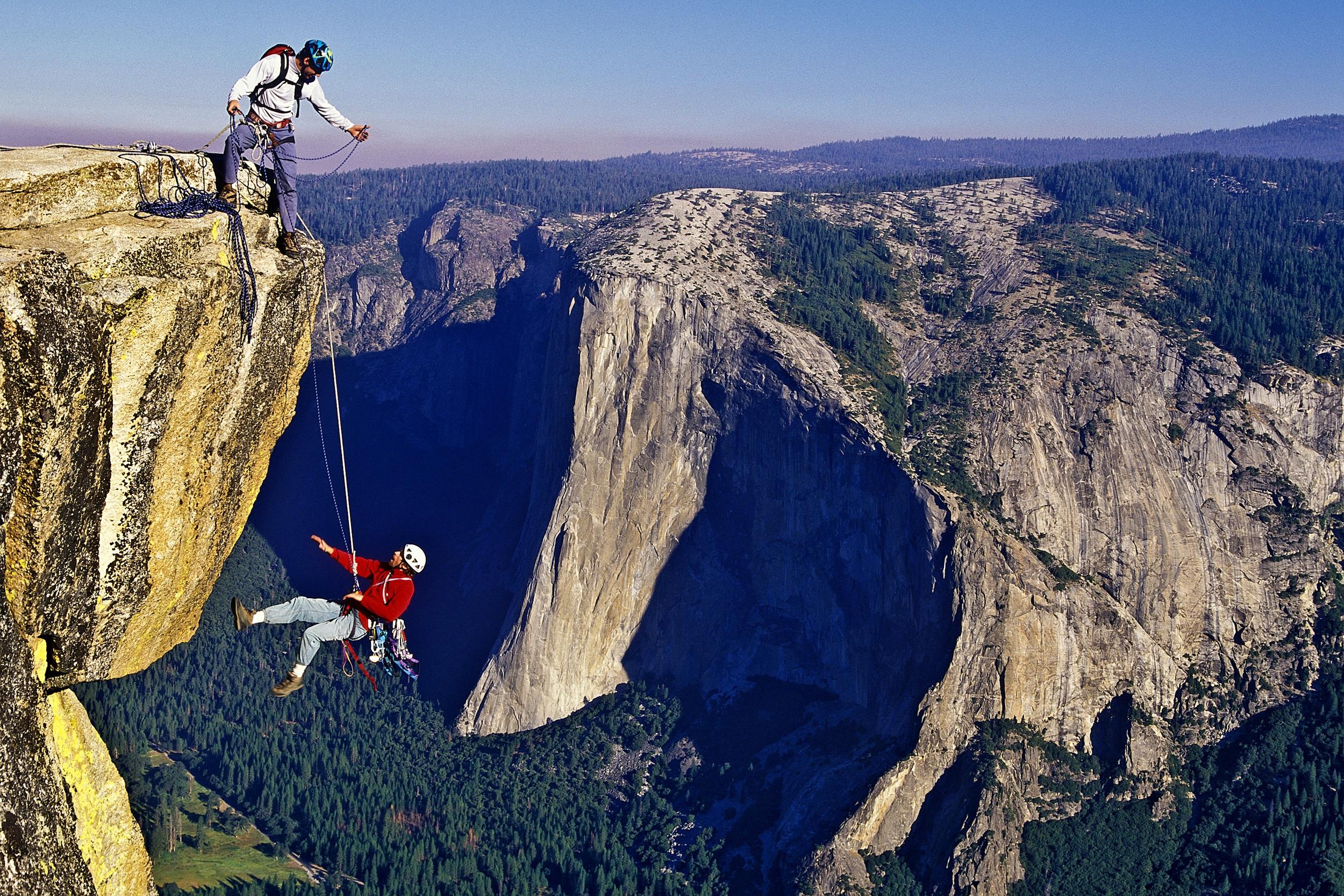 rockclimbing cliff