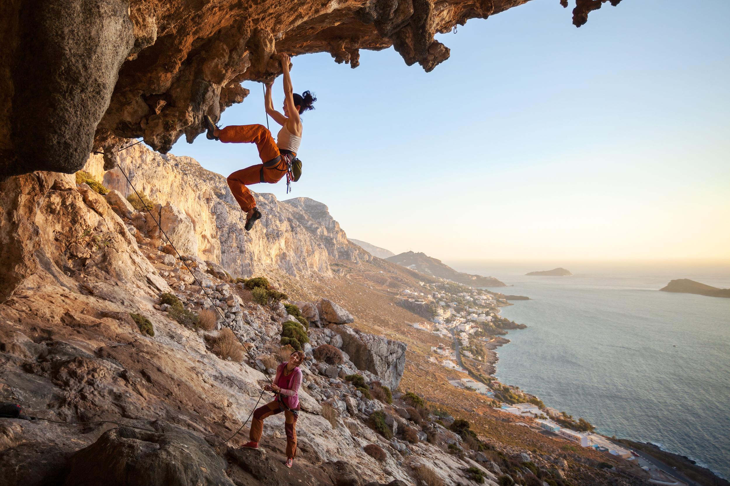 outdoor climbing cliff