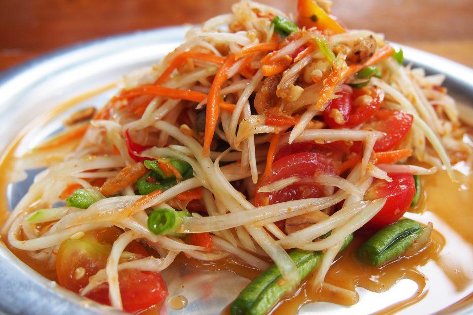 Close up of a Pad Tai dish