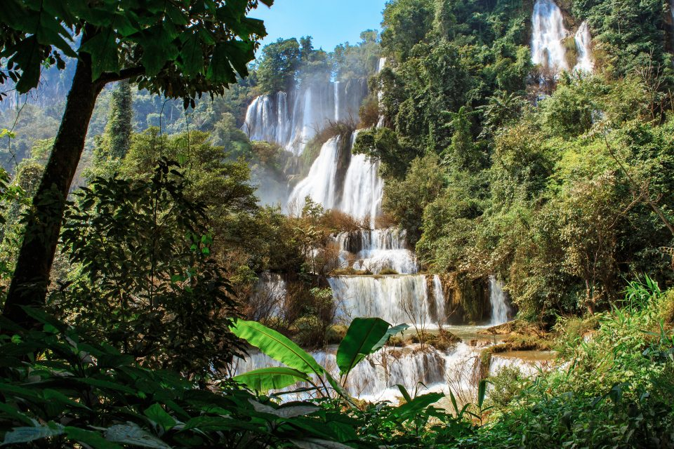 waterfall trekking thailand