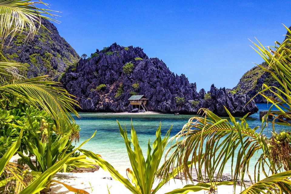 A beat hut on the islands of Palawan